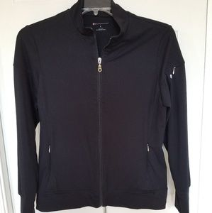 Bally Total Fitness Black Zip-Up Jacket
